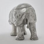 Large silver rhinoceros