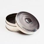 Art Nouveau silver trinket box