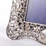 Antique handmade silver photo frame