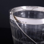 Silver & glass ice bucket