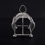 Edwardian silver toast rack