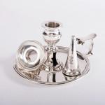 George III silver chamberstick