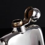 Antique silver hip flask