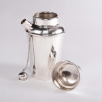 Personal silver cocktail shaker