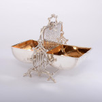 Rare silver folding biscuit box