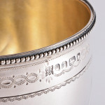 Antique silver goblet with gothic style decoration