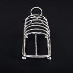 Victorian silver toast rack