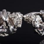 Rare pair Victorian silver figural salts