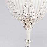 Edwardian silver wine goblet