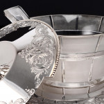 Silver & glass butter dish