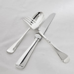 One date & maker hand-forged Rattail silver cutlery