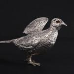 Silver model cock pheasant