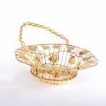 George III silver-gilt sweetmeat basket
