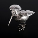 Silver model woodcock or snipe