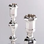 Pair cast Britannia silver candlesticks