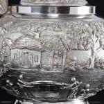 Colonial Indian silver tea set