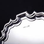 """10½"""" Georgian style silver salver"""
