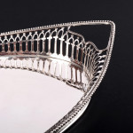 Small oval silver gallery tray