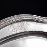 George II silver meat platter