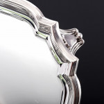 """8"""" George II style square silver salver"""