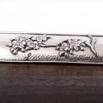 Meiji Japanese silver dresser tray