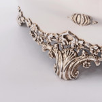 Edwardian silver jewellery box