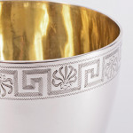 George III hand-engraved silver goblet