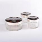 Silver & tortoiseshell dresser jars