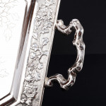 Antique Chinese silver tea tray