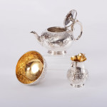 Antique silver bachelor tea set