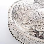 Victorian heart-shaped silver jewellery box