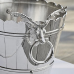 Silver-plated ice bucket or wine cooler