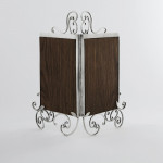 Victorian double silver photo frame