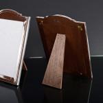 Pair antique silver photo frames
