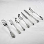 Hand-forged silver Fiddle Thread & Husk cutlery set