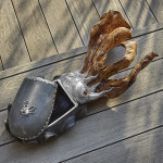Unique silver & shagreen cuttlefish box