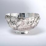 Meiji Japanese silver bowl