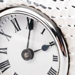 Edwardian silver carriage clock