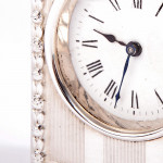 Antique silver carriage clock