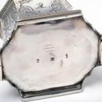 Victorian handmade silver tea caddy