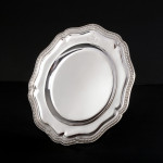 12 antique silver dinner plates by royal silversmith