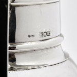 Victorian glass & silver claret jug