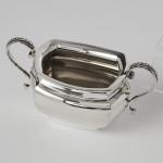 Edwardian silver bachelor tea set