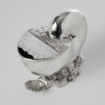 Silver-plated spoon warmer