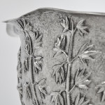 Hand-chased Indian silver bowl