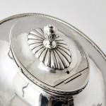 Arts & Crafts Adam-style silver teapot