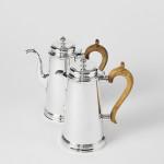 George II style silver café-au-lait set