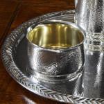 Mid-century silver coffee set & tray