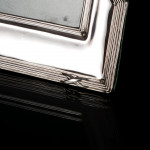 Pair of Empire-style silver photo frames