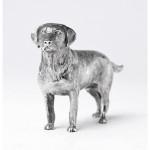 Silver standing labrador